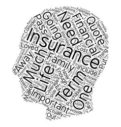 How Much Term Life Insurance Should I Buy text vector image