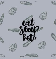 Keto diet hand drawn lettering vector