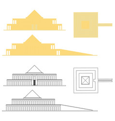 king mentuhotep ii temple and outline vector image