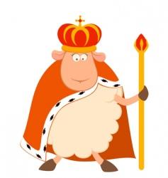 King of sheep vector