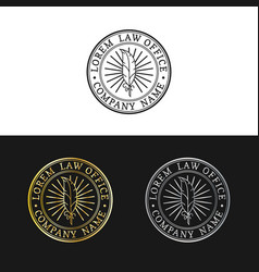 law office logos set vintage attorney vector image