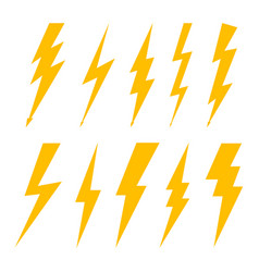 Lightning bolt flash thunderbolt icon vector