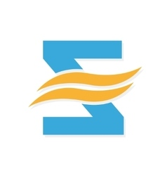 logo combination of a letter Z and wave vector image