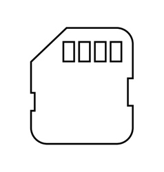 Memory card sd isolated icon design vector