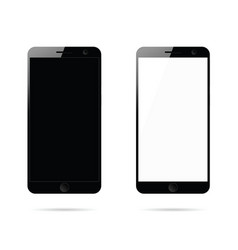 mobile phone in black set design vector image