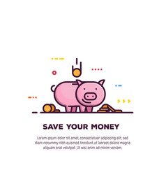 money saving banner vector image