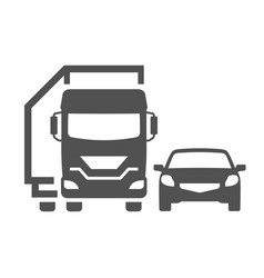 monochrome road transport icon flat vector image