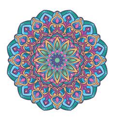 multicolor boho mandala design vector image