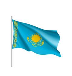 national flag of kazakhstan republic vector image