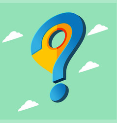 navigator checkin question symbol sky vector image
