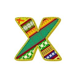 Ornament x retro vector