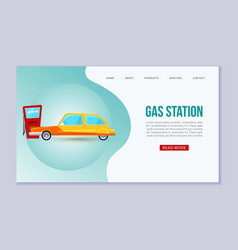 petrol gas station auto service web vector image