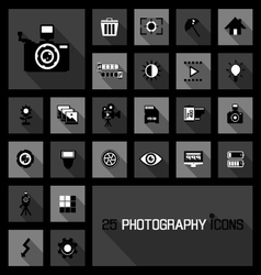 photography icons concepts vector image