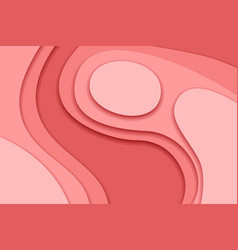 pink and red background in paper cut and craft vector image