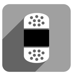Plaster Flat Square Icon with Long Shadow vector image