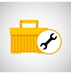 plastic tool box wrench icon vector image vector image