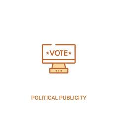 Political publicity on monitor screen concept 2 vector