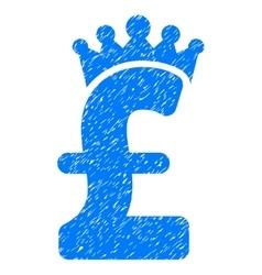 Pound Crown Grainy Texture Icon vector image