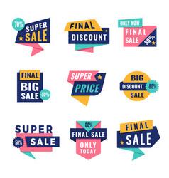 Promo badges offers big discount labels vector