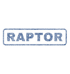 Raptor textile stamp vector