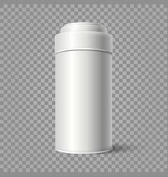 realistic tin bucket vector image