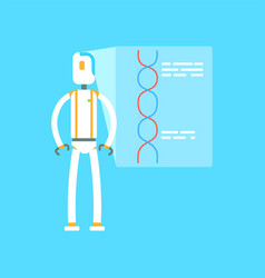 robot leading presentation artificial vector image