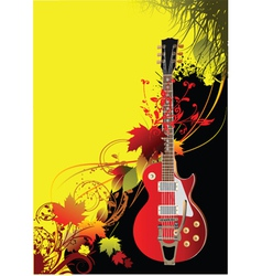 rock poster vector image