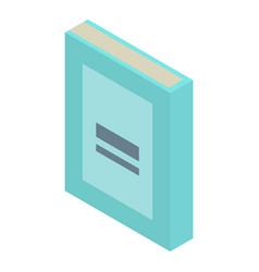 school book icon isometric style vector image