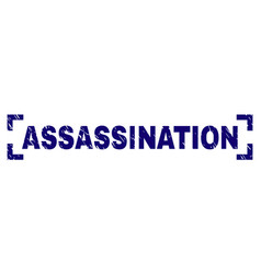 Scratched textured assassination stamp seal inside vector