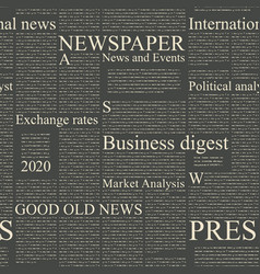 Seamless pattern on theme newspapers vector