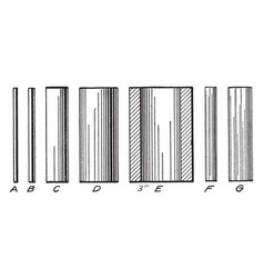 series of cylinder line shading three-dimensional vector image