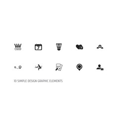 Set of 10 editable mixed icons includes symbols vector
