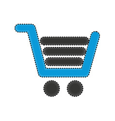shopping cart commercial icon vector image