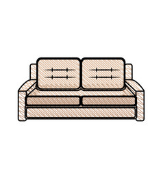 Sofa furniture modern style vector