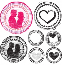 Stamp love vector