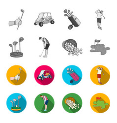 stand for a golf club muzhchin playing with a vector image
