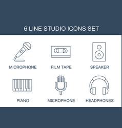 studio icons vector image