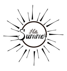 summer time calligraphy vector image