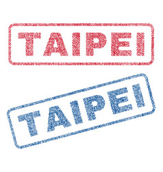 Taipei textile stamps vector