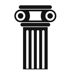 temple pillar icon simple style vector image