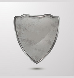 textured 3d shieldcardboardcementsymbol vector image