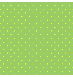 Tile pattern with small yellow polka dots on green vector image