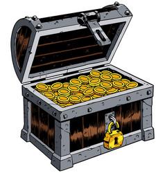 Treasure chest on white vector