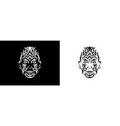 tribal man portrait man portait in tribal style vector image