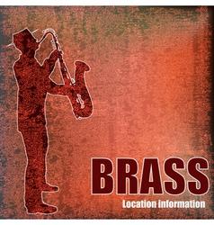 Vintage brass vector