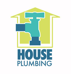 water tap house plumbing repairing works isolated vector image