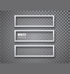 White frame horizontal mockup template isolated on vector