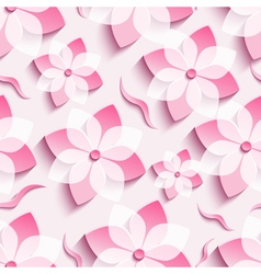 Abstract background seamless pattern pink sakura vector image vector image