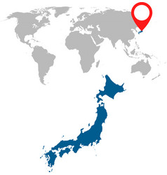 detailed map of japan and world map navigation vector image