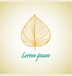 leaf ideas design on vector image vector image